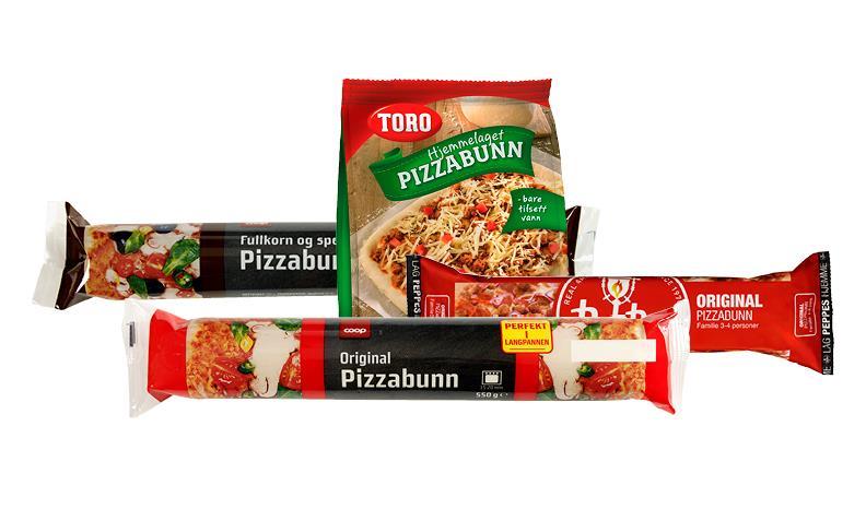ferdig pizzabunn pris