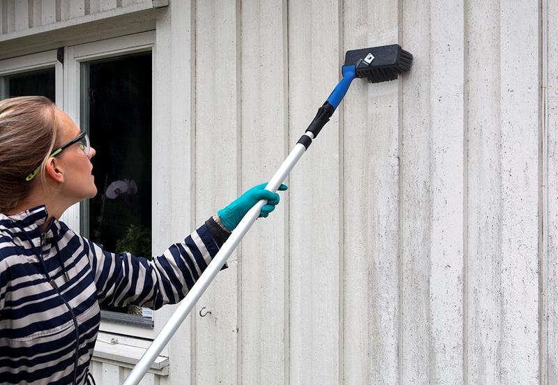 vaske hus før maling